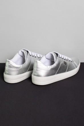 Tênis Mini Sneaker com Cadarço (Prata) | Ref: KS-T42-004