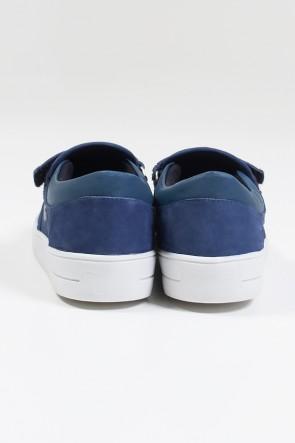 Tênis Mini Sneaker com Velcro (Nobuck Jeans) | Ref: KS-T43-001