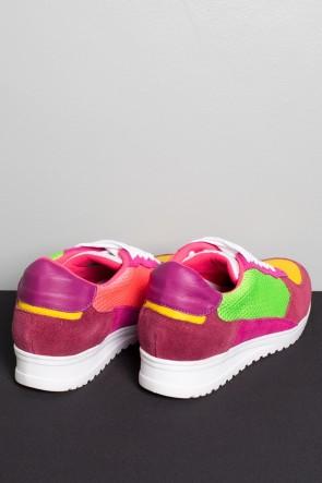 Tênis Quasar Jogger (Rosa Pink / Verde Limão / Amarelo) | Ref: KS-T71-003