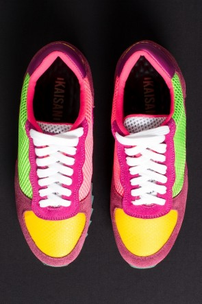 Tênis Quasar Shark (Rosa Pink / Verde Limão / Amarelo) | Ref: KS-T72-002