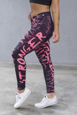 Legging Estampa Digital PRO (Stronger Rosa Neon) | Ref: NTSP12-001