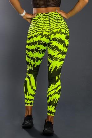 Legging Sublimada PRO (Frequência Amarelo Neon) | Ref: NTSP14-001