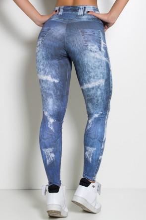 Legging Sublimada (Jeans Black Paint) | Ref: NTSP27-001