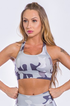 Top Nadador Estampa Digital  (Shades of Gray Camo) | Ref: K2313-A