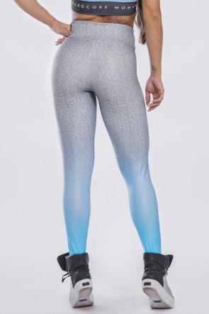 Calça Legging Sublimada Blue Fade   Ref: K2297-A