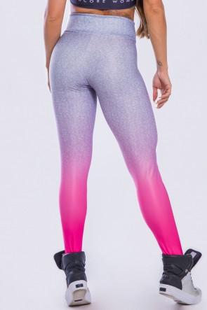 Calça Legging Sublimada Pink Fade | Ref: K2296-A