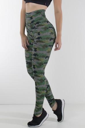 Legging Estampada (Quadriculado Camuflado) | Ref: KS-F27-038