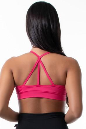 Top de Alcinha com Tiras e Argola (Rosa Pink) | Ref: KS-F1680-001