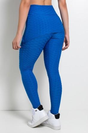 Calça Saia Tecido Bolha (Azul Royal)   Ref: KS-F225-005