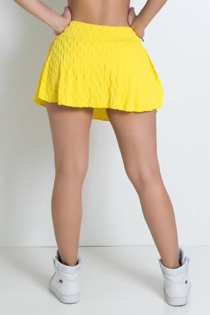 Short Saia Isabelle Tecido Bolha (Amarelo)   Ref: KS-F265-008