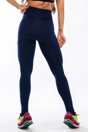 Legging com Tapa Bumbum (Azul Marinho)   Ref:F35-003