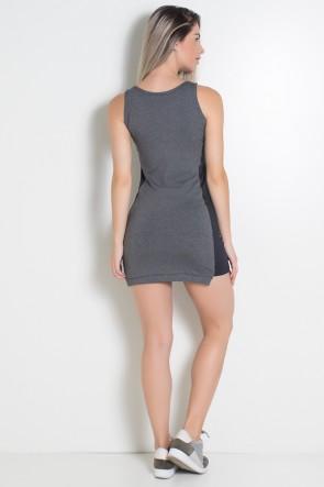 Vestido Fitness Anita Mescla com Detalhe Liso + Short | Ref: KS-F451-001