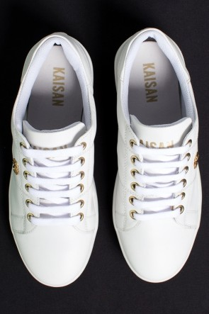 Tênis Mini Sneaker com Cadarço (Branco) | Ref: KS-T42-001