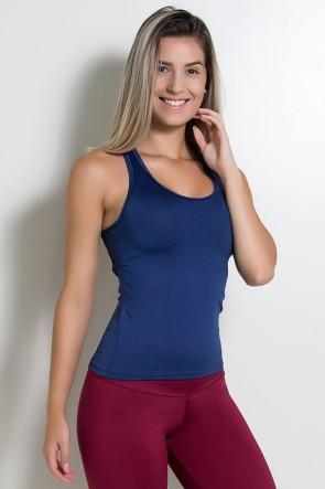 Camiseta Fitness Júlia  (Azul Marinho) | Ref: KS-F39-005