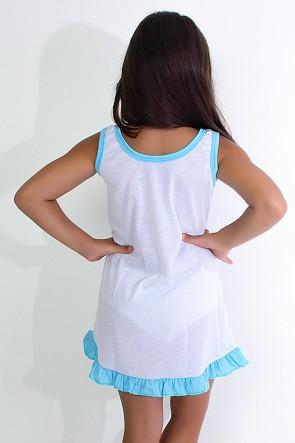 Camisola Infantil 060 (Azul com ursinho) Ref: CEZ-CM09-001