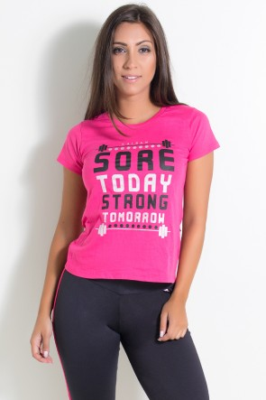 KS-F226-001_Camiseta_Feminina_Sore_Today_Strong_Tomorrow_Rosa_Pink__Ref:_KS-F226-001