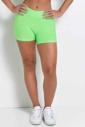 Shortinho Tecido Bolha Fluor (Verde Limão Fluor)   Ref: KS-F304 -002