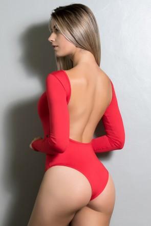 Body Luana Costa Aberta (Vermelho) | Ref:F418-003