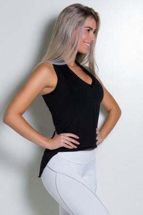 Camiseta Dry Fit Lisa (Preto) | Ref: KS-F467-001