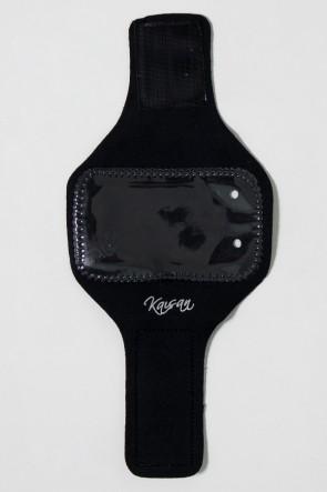 Braçadeira Pequena Lisa para Celular (Preto) | Ref: KS-F665-001