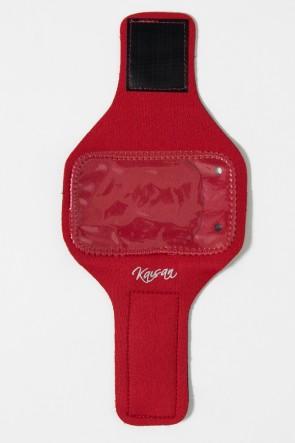Braçadeira Pequena Lisa para Celular (Vermelho) | Ref: KS-F665-002