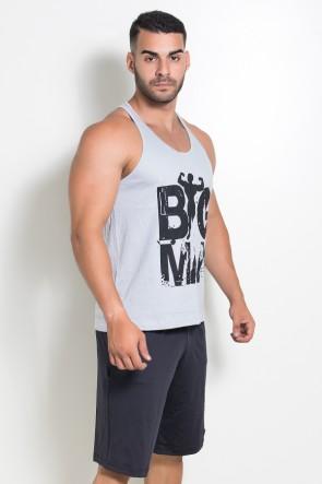 Camiseta Regata (Big Man) (Cinza) | Ref: KS-F526-004