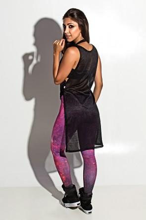 Maxi Camiseta Tecido Transparente (Preto)| Ref: F999-001