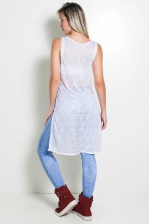 Maxi Camiseta Tecido Transparente | Ref: KS-F999-002