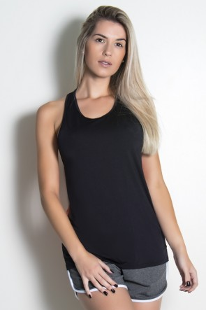 Camiseta Nadador de Microlight com Costa Dry Fit (Preto / Laranja) | Ref: KS-F1988-001