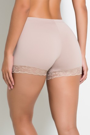 Mini Short Liso com Renda (Chocolate) | Ref: KS-F2199-002
