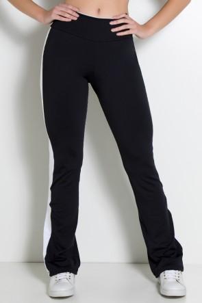 Calça Bailarina Track Pants (Preto / Branco) | Ref: KS-F2284-001