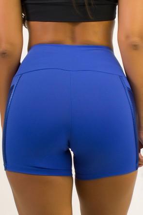Short Cós Regular Com Detalhe Em Textura (Azul Royal) | Ref: SRT118-008/008/000