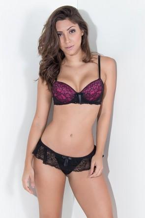 KS-B199-002_Conjunto_Bruna_2365_Preto_com_Rosa_Pink__Ref:_KS-B199-002