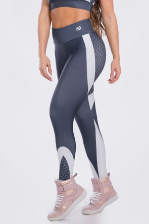 K2473-A_Calca_Legging_Sublimada_Gray_Honeycomb__Ref:_K2473-A