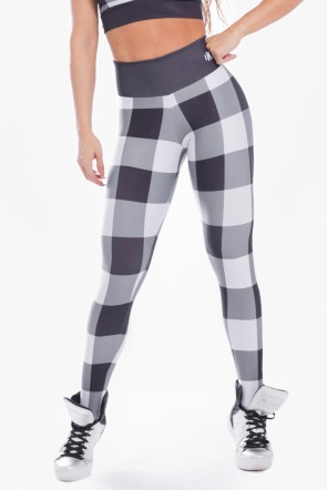 Calça Legging Sublimada Gray Plaid | Ref: K2482-A