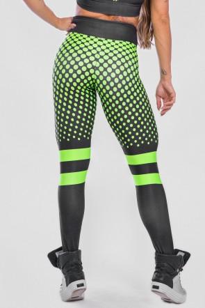 Calça Legging Sublimada Neon Green | Ref: K2488-A
