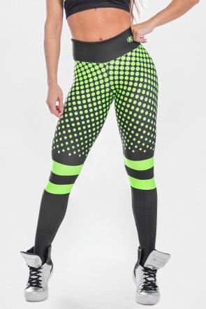 Calça Legging Estampa Digital  Neon Green | Ref: K2488-A
