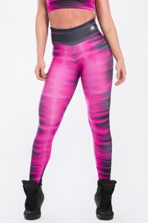 Calça Legging Estampa Digital  Pink Tie Dye | Ref: K2524-A
