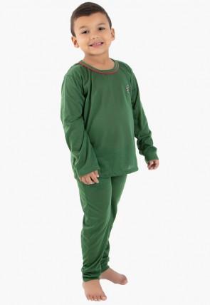 Pijama Longo Inf. Masc. 078 (Verde Escuro) CEZ-PA078-004