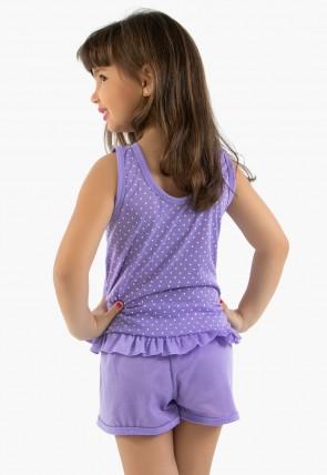 Babydoll infantil 203 Lilás CEZ-PA-203-004