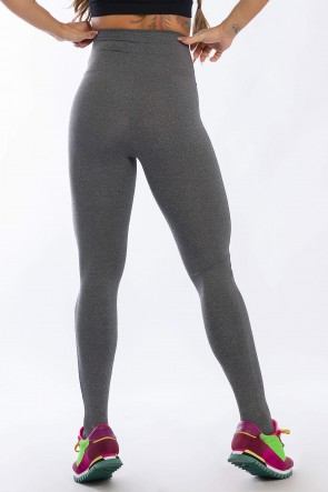 Calça Legging com Detalhe em Tule (Mescla) | Ref: K2428-D