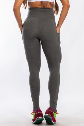 Calça Legging com Bolso Lateral (Mescla) | Ref: K2424-D