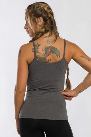 Camiseta de Alcinha com Bojo Removível (Mescla) | Ref: K2442-D