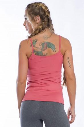 Camiseta de Alcinha com Bojo Removível (Salmão) | Ref: K2442-E
