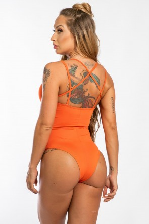 Body Liso com Detalhe de Elástico (Laranja) | Ref: K2435-E