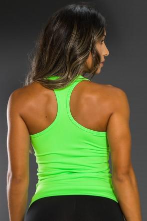 Camiseta Básica Sem Bojo (Verde Neon) | Ref: K2558-C
