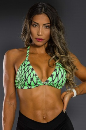 Top Fitness Estampado (Escama Verde) | Ref: K2566-B