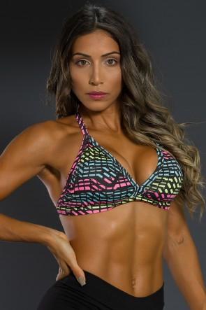 K2566-G_Top_Fitness_Estampado_Rosa_Verde_e_Azul_com_Risco_Preto__Ref:_K2566-G