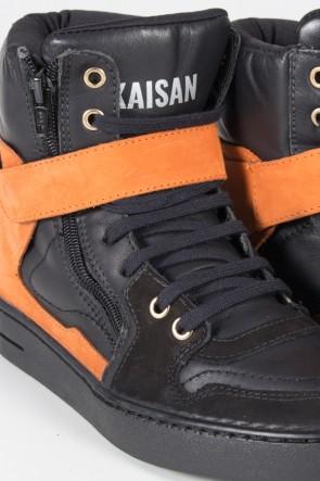 Sneaker Preto com Laranja | Ref: T40