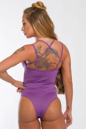 Body Liso com Detalhe de Elástico (Lilás) | Ref: K2435-D